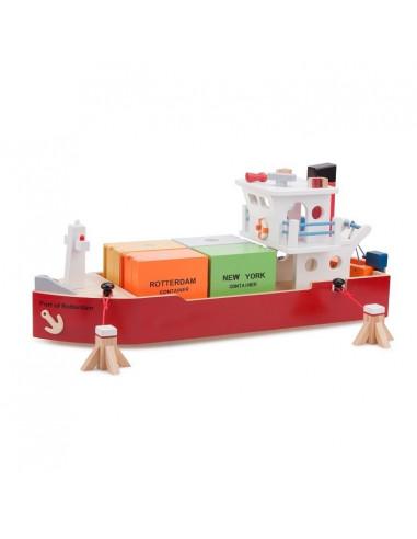 Containerschip met 4 containers