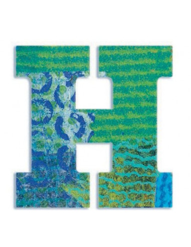 LETTRE EN BOIS - H - Letters Peacok